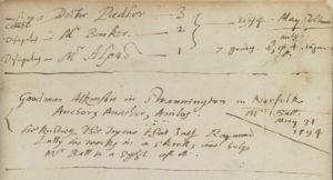 Paracelsus, Baderbuchlin (1562) Rear Flyleaf