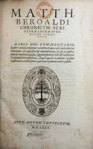 Mattheus Beroaldus, Chronicum (1575)