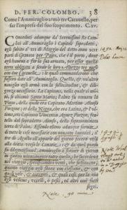 Fernando Colon, Historie del S.D. Fernando Colombo, 38r
