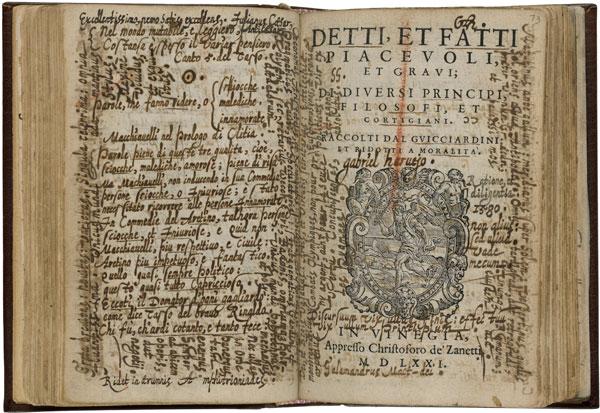 Lodovico Domenichi, Facetie (Venice, 1571), title page
