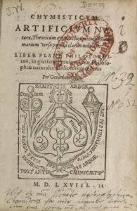 Gerhard Dorn, Chymisticum artificium, title page