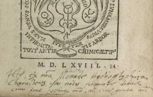Gerhard Dorn, Chymisticum artificium, title page detail