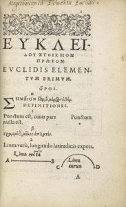 Euclid, Euclidis elementorum, title page