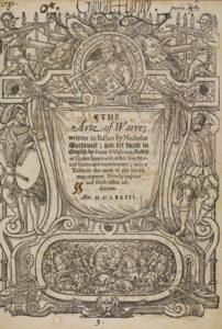 Niccolò Machiavelli, Art of warre (London, 1573) title page