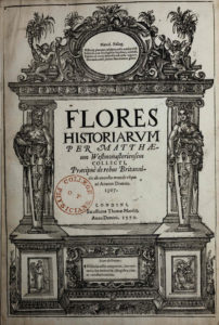 Matthew Paris, Flores Historiarum (1570) title page