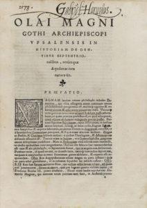 Olaus Magnus, Historia de gentibus (Rome, 1555) title page