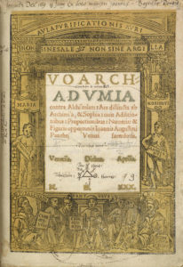Johannes Pantheus, Voarchadumia (1530) title page