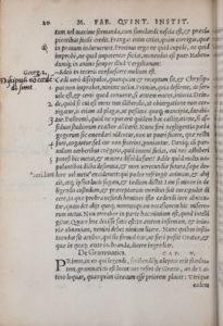 Quintilian, Institutionum oratoriarum (1540) 20