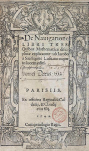 Jacobo a Saa, De navigatione libri tres (1549) title page
