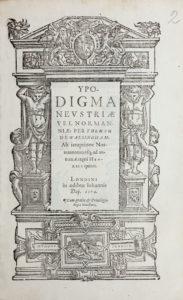 Thomas Walsingham, Ypodigma Neustriae (1574) title page